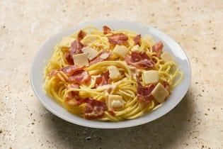 Carbonara della Mamma, Pancetta e Parmigiano