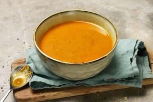 Grande soupe de tomates, lentilles & pois chiches