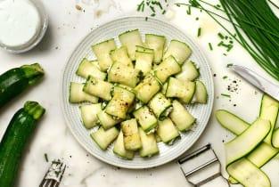 Kit recette - Roulé de courgettes, chèvre frais & ciboulette pour 4