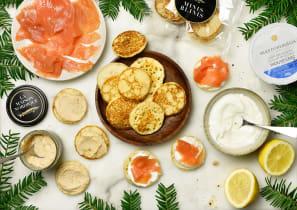 Kit recette - Saumon fumé, tarama et blinis pour 4
