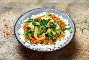 Crevettes thaï sauce satay