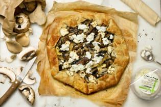 Kit recette - Tarte fine aux champignons pour 4