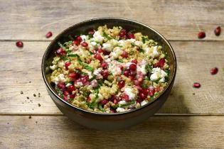 Salade de quinoa, feta & grenade