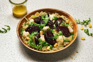 Douceur quinoa de poulet et betteraves rôties