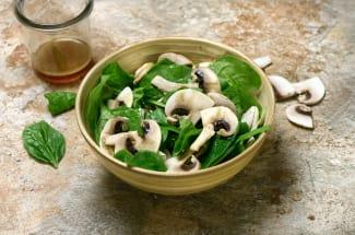 Salade de champignons au ponzu